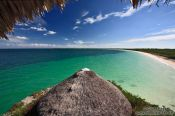 Travel photography:View from the resort at Cayo-las-Bruchas beach, Cuba