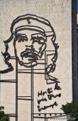Travel photography:Che Guevara portrait on the ministry of the interior building, Cuba
