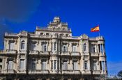 Travel photography:Building of the Spanish embassy in Havana, Cuba