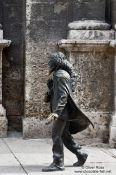 Travel photography:Havana statue at Plaza San Francisco, Cuba