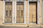 Travel photography:Facade in Sancti-Spiritus, Cuba