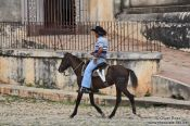 Travel photography:Trinidad cowboy, Cuba