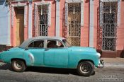 Travel photography:Trinidad house with classic car, Cuba