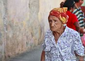 Travel photography:Old lady in Trinidad, Cuba