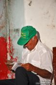 Travel photography:Trinidad man reading, Cuba