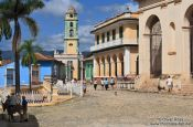 Travel photography:The Plaza Mayor (main square) in Trinidad, Cuba