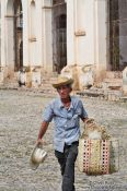 Travel photography:Man selling hats and baskets in Trinidad, Cuba