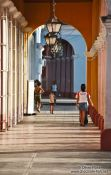 Travel photography:Arcade in Remedios, Cuba