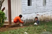 Travel photography:Two boys playing near Viñales, Cuba