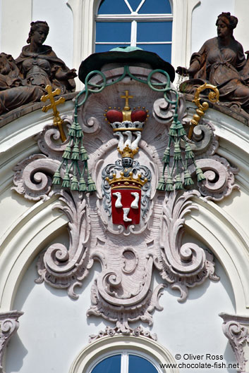 Facade detail on a building in Prague Castle