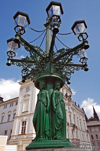 Street lamp in Prague Castle