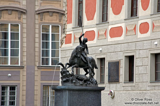 Statue of St George outside St. Vitus Cathedral