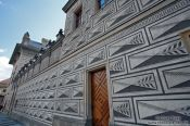 Travel photography:Facade of the Schwarzenberg palace in Prague Castle, Czech Republic