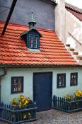 Travel photography:Small house in the Golden Alley (Zlatá ulicka), Czech Republic