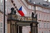 Travel photography:Facade on Castle square, Czech Republic
