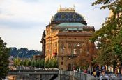 Travel photography:View of Prague`s National Theatre, Czech Republic