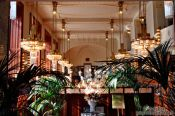 Travel photography:Art-nouveau cafe inside the `Representation House ´ (Obecní dům), Czech Republic