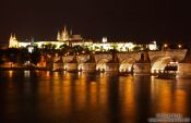 Travel photography:View of the Charles Bridge with Castle and Moldau (Vltava) river, Czech Republic