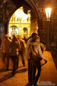 Travel photography:Couple on Charles Bridge, Czech Republic