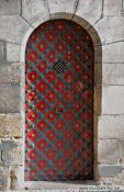 Travel photography:Tower door on Charles bridge, Czech Republic
