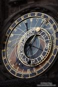 Travel photography:Astronomical clock from 1410 by Mikuláš of Kadan and Jan Šindel on the old town square, Czech Republic