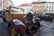 Travel photography:Oldtimer in Prague`s Old Town, Czech Republic