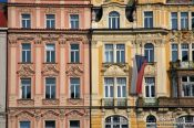 Travel photography:Facades on Prague`s Old town square, Czech Republic