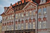 Travel photography:Kinsky palace on the old town square, Czech Republic