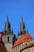 Travel photography:The Tyn church in Prague, Czech Republic