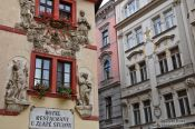 Travel photography:Houses in Prague`s Old Town, Czech Republic