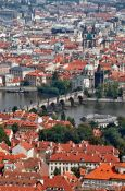 Travel photography:Charles bridge with Moldau (Vltava) river, Czech Republic