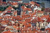 Travel photography:Panoramic view of the Lesser Quarter, Czech Republic
