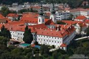Travel photography:Aerial view of Strahov Monastery (Strahovský klášter), Czech Republic