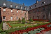 Travel photography:Saint Odile monastery courtyard, France