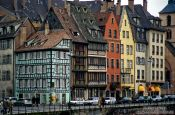 Travel photography:Houses along the Ile river in Strasbourg, France