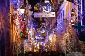 Travel photography:Street decoration on the Strasbourg Christmas market, France