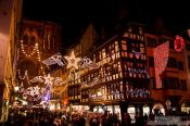 Travel photography:Street decorations at the Strasbourg Christmas market, France
