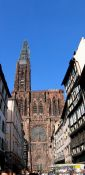 Travel photography:The Muenster (cathedral) in Strasbourg, France