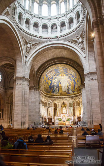 Inside the Sacre Coeur Basilica in Paris´ Montmartre district