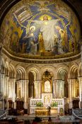 Travel photography:Main altar of the Sacre Coeur Basilica in Paris, France