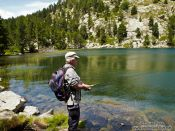 Travel photography:Fishing in the Lac d´Aude, France