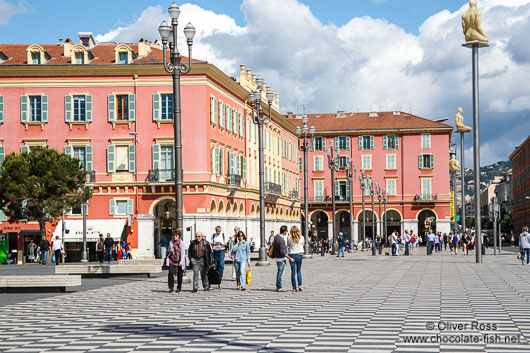 Houses along the Place Masséna in Nice