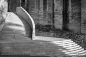 Travel photography:Staircase at the former Papal residence in Avigon  , France