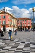 Travel photography:Houses along the Place Masséna in Nice, France