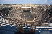 Travel photography:The roman coliseum in Nimes  , France