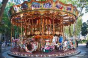 Travel photography:Carousel in Nimes  , France