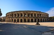 Travel photography:The coliseum in Nimes  , France