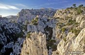 Travel photography:Sunset over Les Calanques de Provence, France