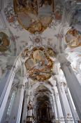 Travel photography:Baroque interior of the St. Georg and Jakobus church in Isny , Germany