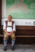 Travel photography:Man in traditional bavarian dress in Garmisch, Germany